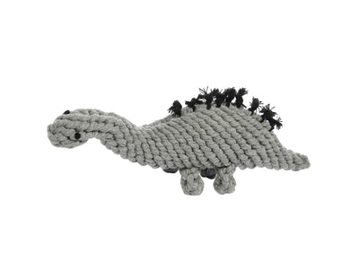 "Stew The Stegosaurus Grey 13"" Rope Dog Toy"
