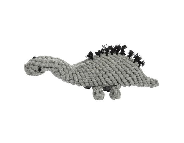 Stew The Stegosaurus Grey Rope Dog Toy