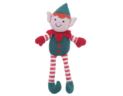 "Elliot the Elf Boy 8"" Woolie Dog Squeak Toy"