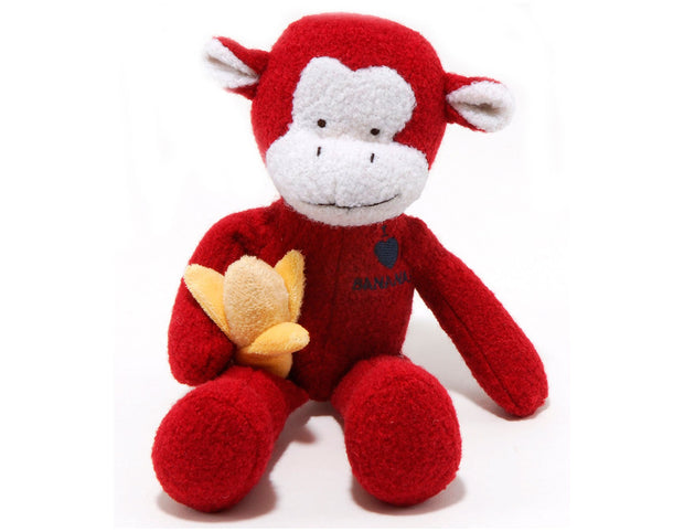 Monkey Woolie Dog Squeak Toy