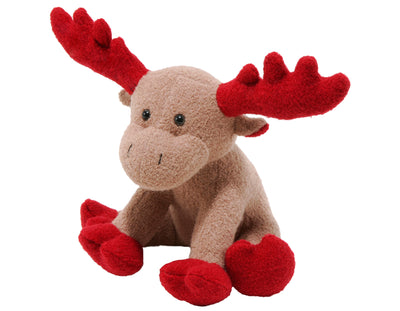 "Moose Red Ears 6"" Woolie Dog Squeak Toy"