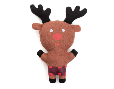 "Reindeer 11"" Woolie Dog Squeak Toy"