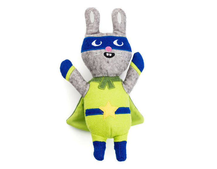 "Jumping Jax Rabbit 11"" Wool Toy"