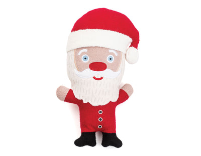 "Santa 11"" Woolie Dog Squeak Toy"