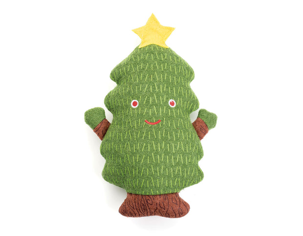 Christmas Tree Woolie Dog Squeak Toy