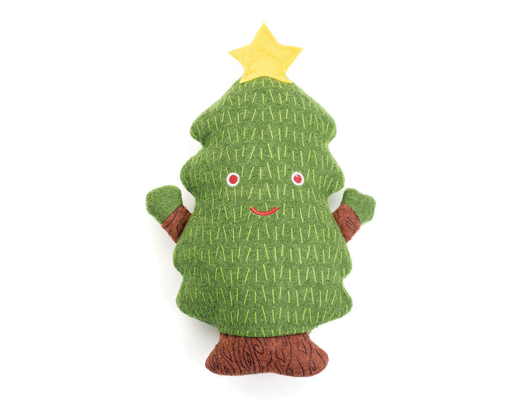 "Christmas Tree 11"" Woolie Dog Squeak Toy"