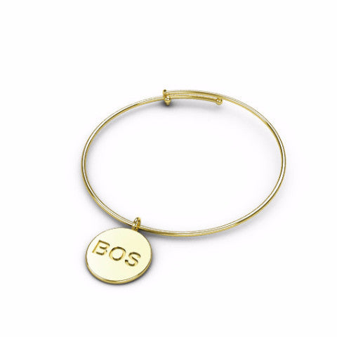 Engraved City Wire Bangle (Cities I-P)