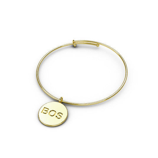Engraved City Wire Bangle (Cities Q-Z)