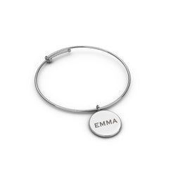 Custom Engraved Wire Bangle - Create Your Own