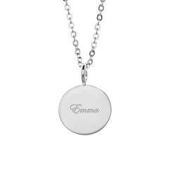 Custom Engraved Charm Necklace - Create Your Own