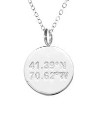 Engraved City Charms With Chain (Cities A -H)
