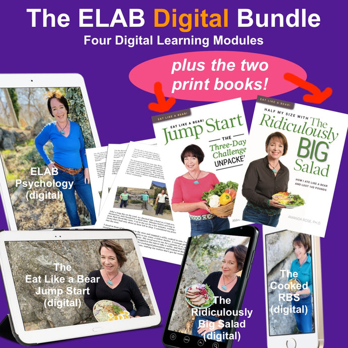 Eat Like a Bear! Digital Course BUNDLE (PLUS Both PRINT BOOKS, U.S. orders only)