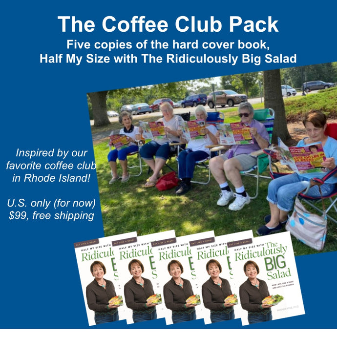 FIVE PACK, FREE US SHIPPING: Half My Size with The Ridiculously Big Salad Physical Book (U.S. orders only)