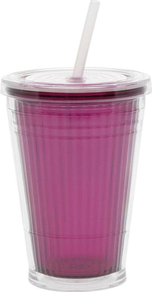 Quest Gimex Blackberry Tumbler with Waterproof Lid and Straw - Life's a breeze GB Ltd
