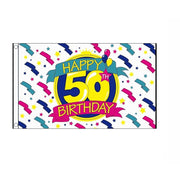Happy 50th Birthday Flag - Life's a breeze GB Ltd