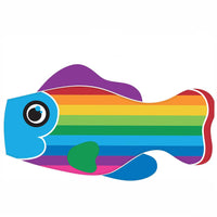 Life's a breeze Rainbow Stripe Fish Windsock - Life's a breeze GB Ltd