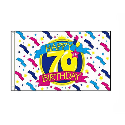Happy 70th Birthday Flag - Life's a breeze GB Ltd