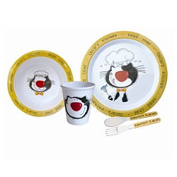Children's Dinner Set.Melamine 5 Piece Oscar Dinner Set - Life's a breeze GB Ltd