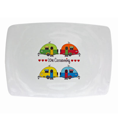 Love Caravanning Rectangular Platter - Life's a breeze GB Ltd