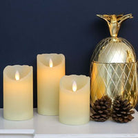 Flickering LED Wax LED Candles - Life's a breeze GB Ltd