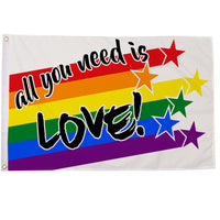 All You Need Is Love Flag 5ft x 3ft - Life's a breeze GB Ltd