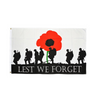 Lest We Forget Large Flag. 8ft x 5ft - Life's a breeze GB Ltd