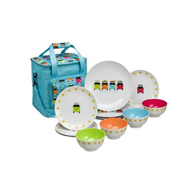 VW Camper Smiles Dinner Set & Cool Bag - Life's a breeze GB Ltd