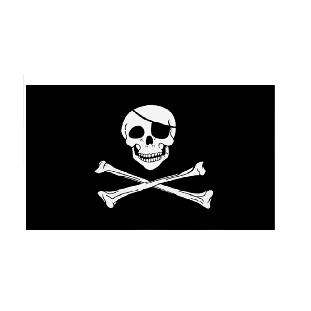 Skull And Crossbones Flag. 3ft x 2ft - Life's a breeze GB Ltd
