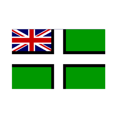 Devon Flag with Ensign - Life's a breeze GB Ltd