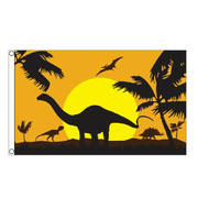 Dinosaur Silhouette Flag. - Life's a breeze GB Ltd