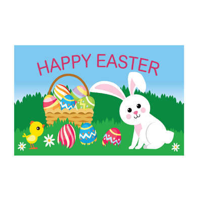 Easter Flag.Easter Bunny Flag 5ft x 3ft