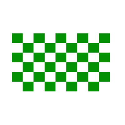 Green And White Checkered Flag - Life's a breeze GB Ltd