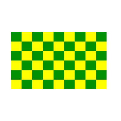 Green And Yellow Checkered Flag - Life's a breeze GB Ltd