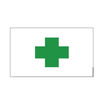Green Cross. First Aid Flag - Life's a breeze GB Ltd