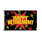 Happy Retirement Flag - Life's a breeze GB Ltd