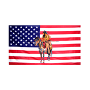 Indian On Horse Flag - Life's a breeze GB Ltd
