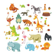 Cartoon Jungle Animals, Wall Stickers - Life's a breeze GB Ltd