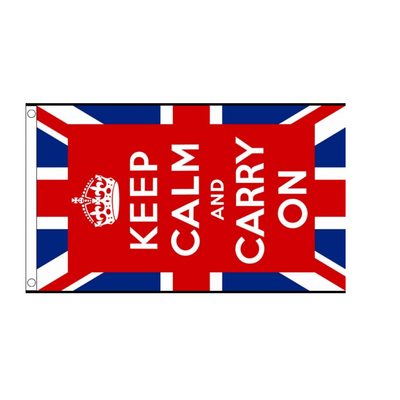 Keep Calm And Carry On. United Kingdom Flag - Life's a breeze GB Ltd