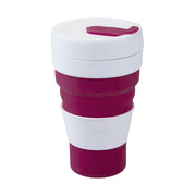 Pop Cup. Colapsible Maroon Pop Cup - Life's a breeze GB Ltd