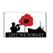 Lest We Forget Navy Large Flag. 8ft x 5ft - Life's a breeze GB Ltd