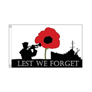 Lest We Forget Flag. NAVY 3ft x 2ft - Life's a breeze GB Ltd