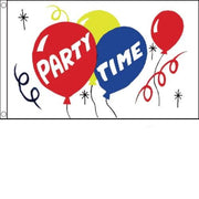 Party Time Celebration Flag - Life's a breeze GB Ltd