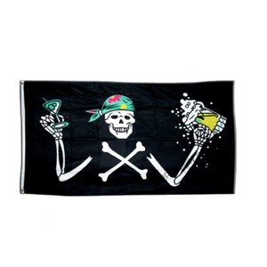 Pirate With Beer Flag - Life's a breeze GB Ltd
