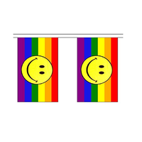 Rainbow Smiley Bunting. 9 Meters - Life's a breeze GB Ltd