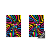 Rainbow Swirl Bunting. 9 Meters - Life's a breeze GB Ltd
