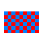 Red And Blue Checkered Flag - Life's a breeze GB Ltd
