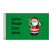 Christmas Flag. Santa Stop Here 3ft x 2ft - Life's a breeze GB Ltd