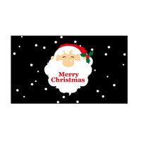 Merry Christmas Santa Season Greetings Flag - Life's a breeze GB Ltd