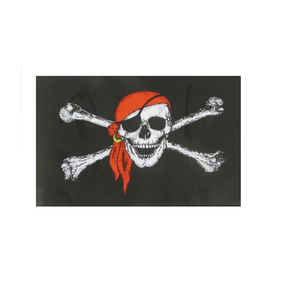 Skull With Scarf Flag. 3ft x 2ft - Life's a breeze GB Ltd