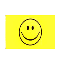 Smiley Face Flag. 3ft x 2ft - Life's a breeze GB Ltd